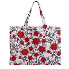Texture Roses Flowers Zipper Mini Tote Bag by BangZart