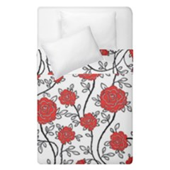 Texture Roses Flowers Duvet Cover Double Side (single Size) by BangZart