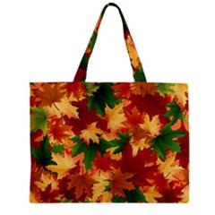 Autumn Leaves Zipper Mini Tote Bag by BangZart