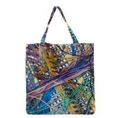 Circuit Computer Grocery Tote Bag by BangZart