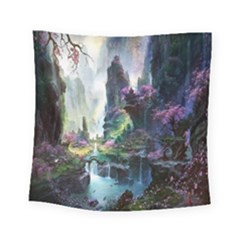 Fantastic World Fantasy Painting Square Tapestry (small) by BangZart