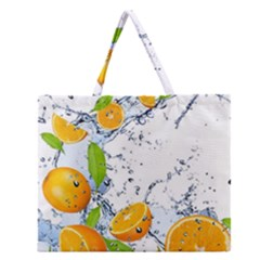Fruits Water Vegetables Food Zipper Large Tote Bag by BangZart