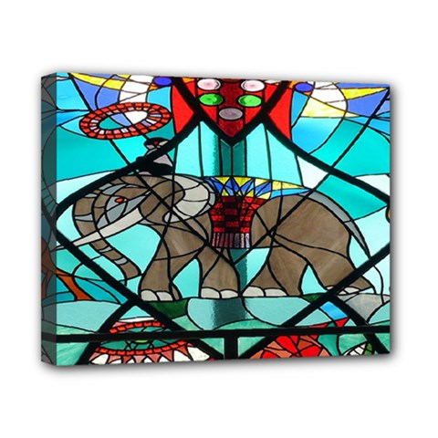 Elephant Stained Glass Canvas 10  X 8  by BangZart