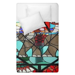 Elephant Stained Glass Duvet Cover Double Side (single Size) by BangZart