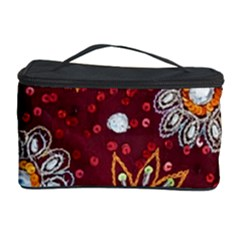 India Traditional Fabric Cosmetic Storage Case by BangZart
