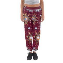 India Traditional Fabric Women s Jogger Sweatpants by BangZart