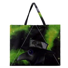 Bird Man  Zipper Large Tote Bag by Valentinaart
