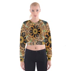 Mixed Chaos Flower Colorful Fractal Cropped Sweatshirt