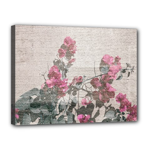 Shabby Chic Style Floral Photo Canvas 16  X 12  by dflcprints