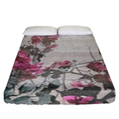 Shabby Chic Style Floral Photo Fitted Sheet (king Size) by dflcprints
