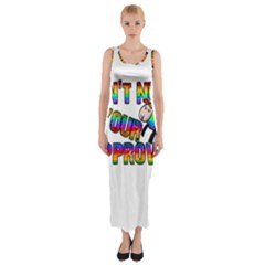 Dont Need Your Approval Fitted Maxi Dress by Valentinaart