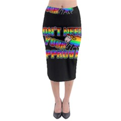 Dont Need Your Approval Midi Pencil Skirt by Valentinaart