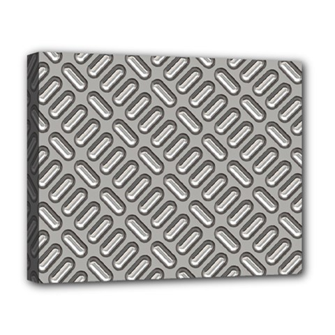 Grey Diamond Metal Texture Deluxe Canvas 20  X 16   by BangZart