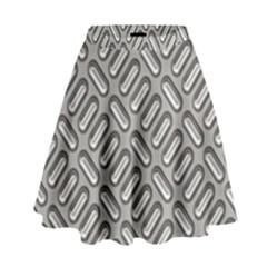 Grey Diamond Metal Texture High Waist Skirt by BangZart