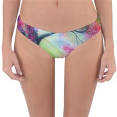 Forests Stunning Glimmer Paintings Sunlight Blooms Plants Love Seasons Traditional Art Flowers Sunsh Reversible Hipster Bikini Bottoms