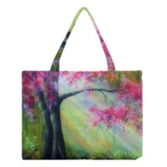 Forests Stunning Glimmer Paintings Sunlight Blooms Plants Love Seasons Traditional Art Flowers Sunsh Medium Tote Bag by BangZart
