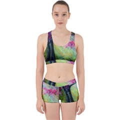 Forests Stunning Glimmer Paintings Sunlight Blooms Plants Love Seasons Traditional Art Flowers Sunsh Work It Out Sports Bra Set by BangZart