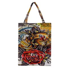 Flower Art Traditional Classic Tote Bag by BangZart