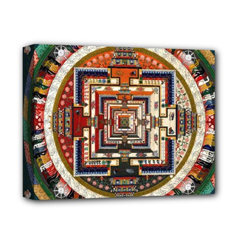 Colorful Mandala Deluxe Canvas 14  X 11  by BangZart