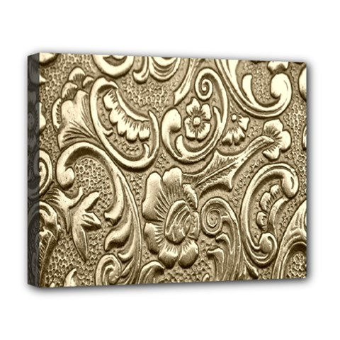 Golden European Pattern Deluxe Canvas 20  X 16   by BangZart
