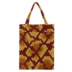 Snake Skin Pattern Vector Classic Tote Bag by BangZart