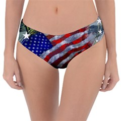 Usa United States Of America Images Independence Day Reversible Classic Bikini Bottoms by BangZart