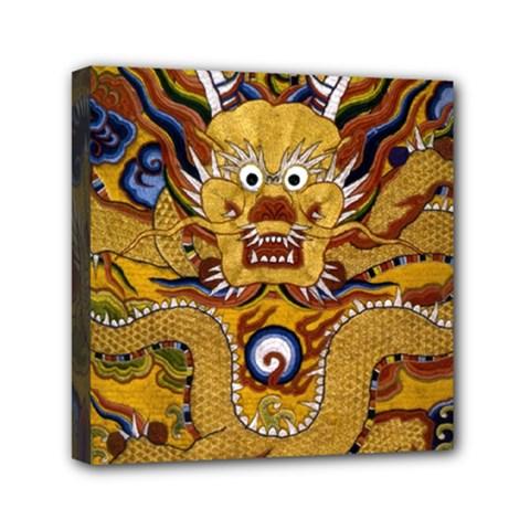 Chinese Dragon Pattern Mini Canvas 6  X 6  by BangZart
