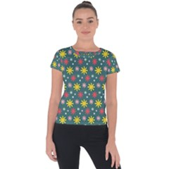 The Gift Wrap Patterns Short Sleeve Sports Top