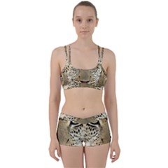 Leopard Face Women s Sports Set by BangZart