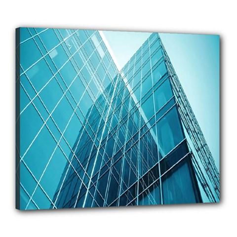 Glass Bulding Canvas 24  X 20  by BangZart