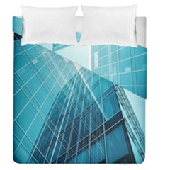 Glass Bulding Duvet Cover Double Side (queen Size) by BangZart