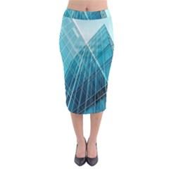 Glass Bulding Midi Pencil Skirt by BangZart