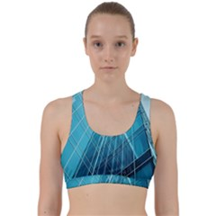 Glass Bulding Back Weave Sports Bra