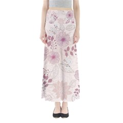 Leaves Pattern Full Length Maxi Skirt