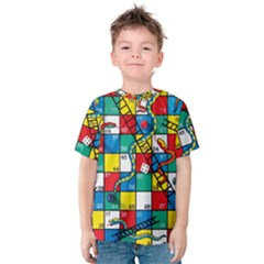 Snakes And Ladders Kids  Cotton Tee by BangZart