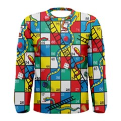 Snakes And Ladders Men s Long Sleeve Tee by BangZart
