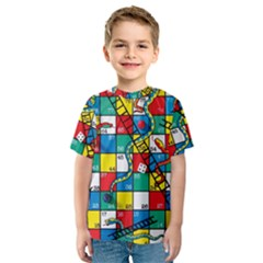 Snakes And Ladders Kids  Sport Mesh Tee by BangZart