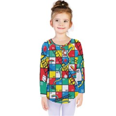 Snakes And Ladders Kids  Long Sleeve Tee by BangZart