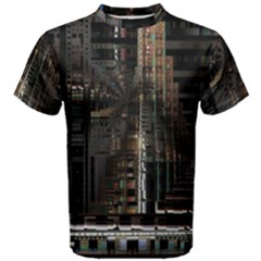Blacktechnology Circuit Board Electronic Computer Men s Cotton Tee by BangZart