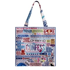 Book Collage Based On Confess Grocery Tote Bag by BangZart