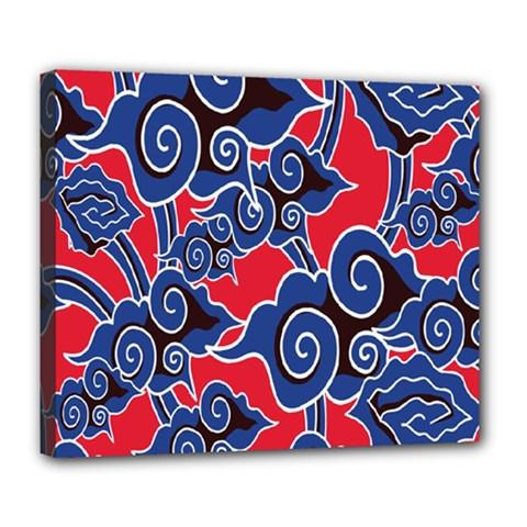 Batik Background Vector Deluxe Canvas 24  X 20   by BangZart