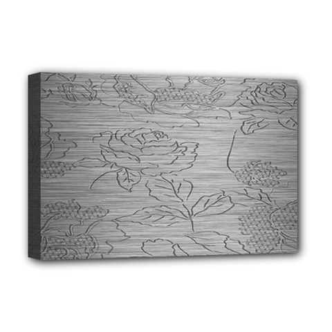 Embossed Rose Pattern Deluxe Canvas 18  X 12   by BangZart