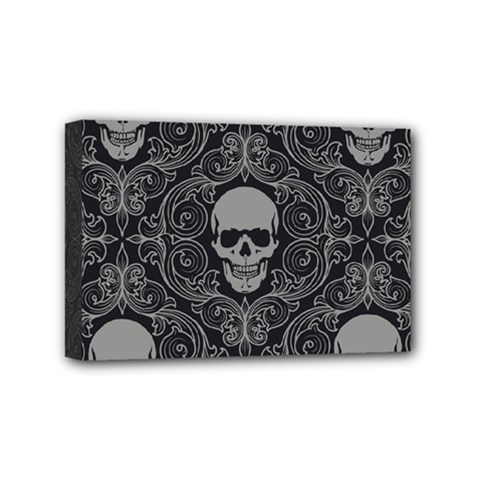 Dark Horror Skulls Pattern Mini Canvas 6  X 4  by BangZart