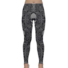 Dark Horror Skulls Pattern Classic Yoga Leggings by BangZart