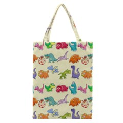 Group Of Funny Dinosaurs Graphic Classic Tote Bag by BangZart