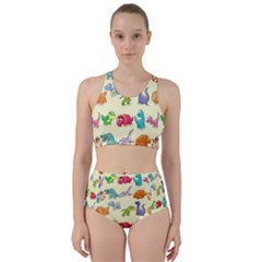 Group Of Funny Dinosaurs Graphic Bikini Swimsuit Spa Swimsuit