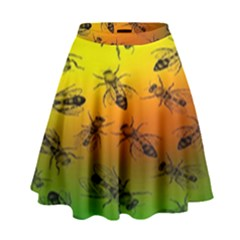 Insect Pattern High Waist Skirt by BangZart