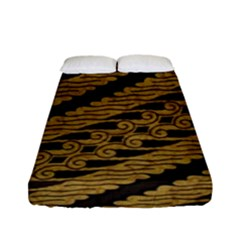 Traditional Art Indonesian Batik Fitted Sheet (full/ Double Size) by BangZart