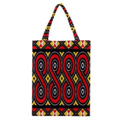 Toraja Traditional Art Pattern Classic Tote Bag by BangZart