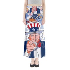 Independence Day United States Of America Full Length Maxi Skirt